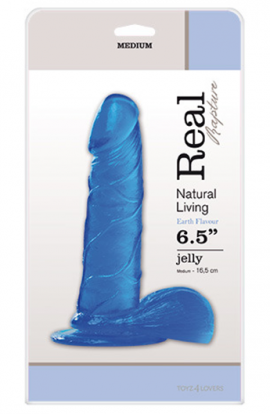 "Dildo REAL RAPTURE 6,5"" - modré"