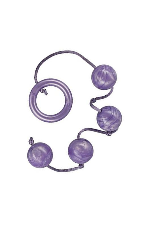Análne guličky PLEASURE PEARLS - fialové