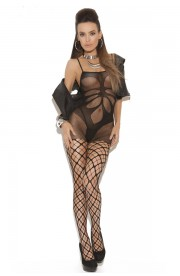 Bodystocking FLORAL SHADE MESH