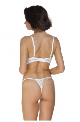 Set WHITE OPEN CUPS BRA LACE