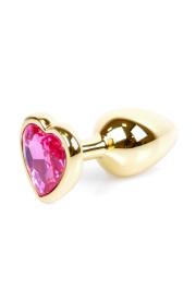 Análny kolík (šperk) Jawellery Gold HEART PLUG