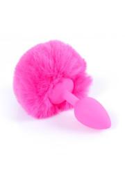 Análny kolík BUNNY TAIL ružový