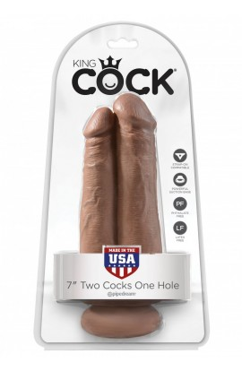 Dvojité dildo KING COCK TWO COCKS ONE HOLE 7 inch