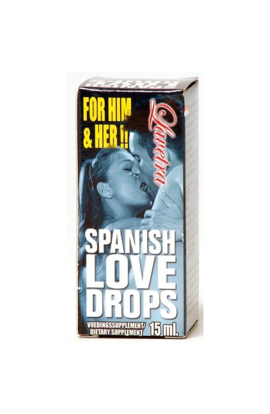 Španielske mušky LOVE DROPS LAVENTRA 15 ml
