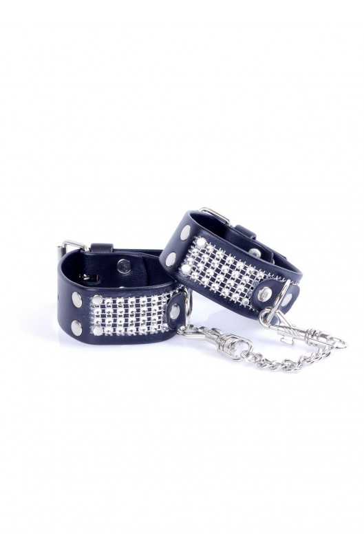 Putá HANDCUFFS WITH CRISTALS SILVER