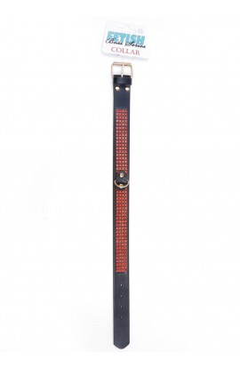 Obojok COLLAR CRYSTALS RED 3cm