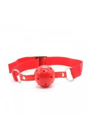 Náustok BREATH HOLE BALL GAG RED