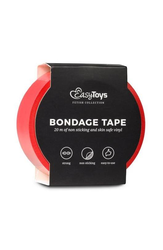 Páska na bondage EASYTOYS BONDAGE TAPE RED 20m