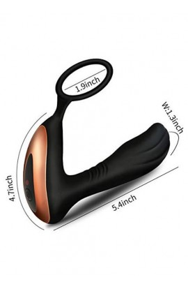Stimulátor prostaty PROSTATE MASSAGER WITH RING USB