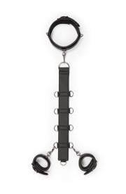 BDSM postroj s putami Neck and Wrist Restraint