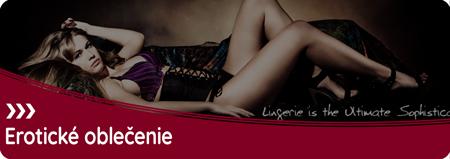 Erotické oblečenie, ako je spodná bielizeň, pančuchy, korzety, nohavičky či erotické sexi kostýmy.